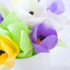Papier crêpé Fleurs | CreativeCainCabin.com