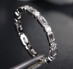Baguette Diamond Wedding Band in 14k White Gold - Diamond Wedding Ring Eternity Band, 14k Rose Gold, Yellow Gold Available