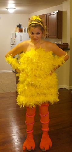 Halloween DIY Paulinau0027s Big Bird Costume | Lauren Conrad- My Halloween Costume for next year !! )  sc 1 st  Pinterest : bird costumes for women  - Germanpascual.Com