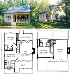 House plans for small homes tiny house floor plans floor plans small Haus Am See, Tiny House Living, House Sitting, Small Living, Cabins And Cottages, Small Cottages, Tiny House Plans, Cabin Floor Plans Small, Small House Plans Under 1000 Sq Ft