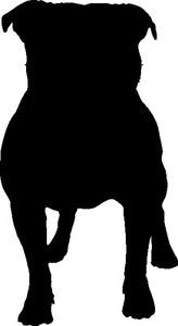 STAFFORDSHIRE BULL TERRIER SILHOUETTE CAR DECAL STICKER | eBay