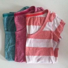 T-Shirt BUNDLE! Three scoop neck tees from kohls juniors section. The striped one is a medium and the other two are large. SO Tops Tees - Short Sleeve