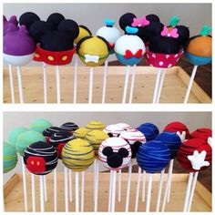 Mickey mouse clubhouse cakepops