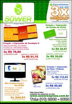 Promoções da Semana Sower Express. Todo o site em 3X sem juros.  www.sowerexpress.com.br