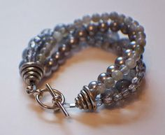 Get your glam on in ten minutes with the Instant Glamor Bracelet tutorial! This free tutorial will show you how to make a bracelet with great style in no time at all.