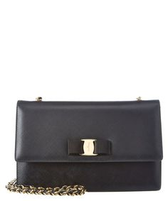 dbd95f451 Salvatore Ferragamo Salvatore Ferragamo Ginny Medium Vara Leather Flap Bag  | Bluefly.Com