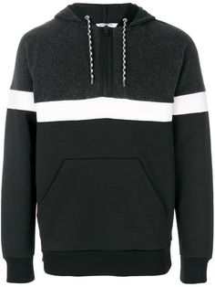 GIVENCHY striped panel hoodie. #givenchy #cloth #hoodie