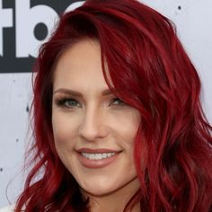 Dancing with the Stars, Sharna Burgess with fiery red hair – Hair Makeup Celebrity Hairstyles, Cool Hairstyles, Bright Red Hairstyles, Party Hairstyles, Cherry Red Hair, Hair Color And Cut, Ruby Red Hair Color, Burgundy Red Hair, Coloured Hair