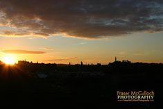 Sunset over Edinburgh Edinburgh skyline at Sunset, taken from St Anthonys Chapel ruins.  #edinburgh #edinburghguide #scotland_greatshots #scotland #sunset #goldenhour #edinburghcastle #stanthonyschapel #skyline #cityscapes #castles #monument  #silhouette #spire #city #visitscotland #frasermccullochphotography