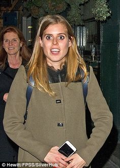 Princess Beatrice pictured outside the restaurant in Mayfair
