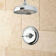 Lambert Ceiling-Mount Rainfall Nozzle Shower Set - Classic Lever Handle