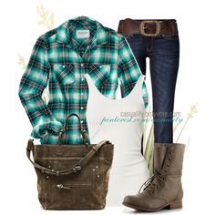 """""""Cowgirl Chic Flannel"""" by casuality on Polyvore"""