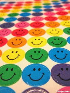 Bright Colorful Smiley Faces