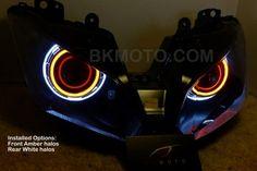 LED Angel Eye HID Projector Light 55W for Kawasaki ZX-10R 2011-2015