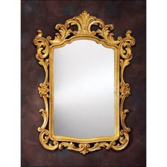 "THE WELL APPOINTED HOUSE - Luxury Home Decor- 18th Century Venetian Style Carved Wood Wall Mirror  31""W X 43 1/2""H.  The Well Appointed Home $2,900."