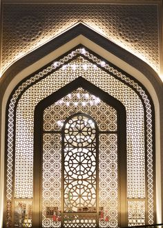 State Mosque of Qatar - Window Structure by alimjs.:separator:State Mosque of Qatar - Window Structure by alimjs. Morrocan Architecture, Mosque Architecture, Futuristic Architecture, Art And Architecture, Architecture Wallpaper, Moroccan Design, Moroccan Style, Islamic Decor, Islamic Art Pattern