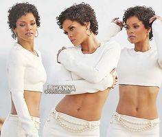 Rihanna's Pretty Lovely Short Curly Hair Pics | http://www.short-haircut.com/rihannas-pretty-lovely-short-curly-hair-pics.html