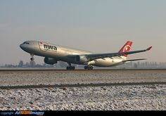 Northwest Airlines Airbus A330-323 N802NW departing Amsterdam-Schiphol, January 2004. (Photo: Daniel Alaerts)