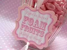 Sweet Jar Tags and Sweet Buffet Stationery by Lovebug Designs