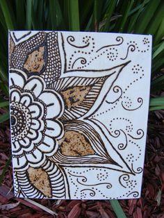 henna on canvas - tints