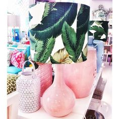 Our 'tommy green' lampshade back in stock at the shop! It looks good with every color! Even with pink! Love it! 💚💕💚 Os nossos abat-jours 'tommy green' em stock outra vez na @lojaquerido ! São lindos, e ficam bem com todas as cores, até cor-de-rosa! Adoro! #wheretoshopinlisbon #backinstock #tommygreenlampshade #lampshades #tablelamps #pinkandgreen #anaantuneshomestyling #ihavethisthingwithpalmtrees #mjhasathingwithpalmtreestoo