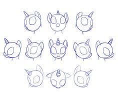 How to draw MLP..2 Pony's head