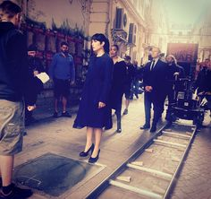Noomi Rapace on the set of her upcoming movie What Happened to Monday? wearing the Key Pump #reschiashoes #reschia