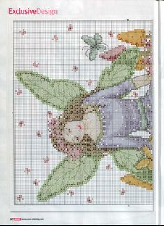 Spring Fairy - 2/3 PUNTADITAS (pág. 38) | Aprender manualidades es facilisimo.com