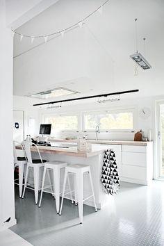 Clean and white kitchen interior