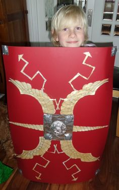Very pleased with his Roman Shield and the 'How To' video