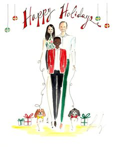 Custom Holiday Cards Holiday Greeting Cards by diarysketches