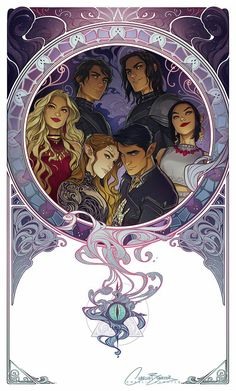 CHARLIE BOWATER HAS THE BEST FANART! The Inner Circle: Azriel, Cassian, Mor, Amren, Feyre, Rhysand.