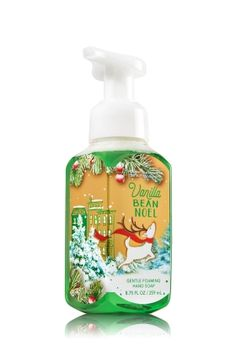 Vanilla Bean Noel - Gentle Foaming Hand Soap - Bath & Body Works - Our Gentle Foaming Hand Soap delivers a cloud of luxurious foam that transforms into a rich, creamy lather to gently wash away dirt and germs, while soothing Aloe and nourishing Vitamin E leave hands feeling soft, smooth and lightly scented!