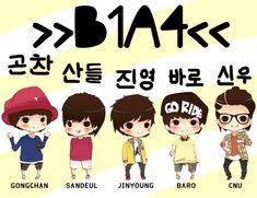 "B1A4 chibi from ""Beautiful Target"" ^o^"