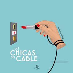 LAS CHICAS DEL CABLE #laschicasdelcable . @chicasdelcable @netflixes @netflix @blanca_suarez @maggiecivantos @anafdz1989 @nadiadesantiago90 . . #series #netflix #spain #tv #blancasuarez #maggiecivantos #anafernandez #nadiadesantiago #illustration #artsy #gallery #artist #design #alvarocastrodesigner Netflix Hacks, Netflix Series, Series Movies, Tv Series, Watermelon Illustration, Fanart, Netflix And Chill, Photoshop, Cinema