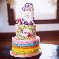 My little Pony birthday cake by LaughLoveCakes! equestria girls, twilight sparkle, pinkie pie, rarity, fluttershy, rainbow dash