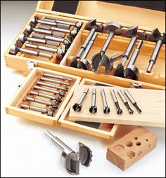 $54 - Set of 7 - HSS Forstner & Saw Tooth Bits - Woodworking