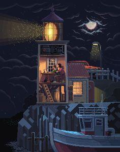 Scene #34: 'Lighthouse' by octavinavarro.deviantart.com on @DeviantArt