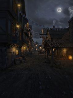 ArtStation - Medieval village, João Neto