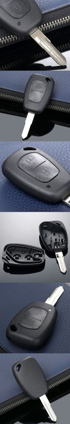 Yetaha New Car-covers Replacement Remote Key Fob Shell Case Uncut Blade For Renault Kangoo Dacia Logan Sandero Duster 2 Buttons