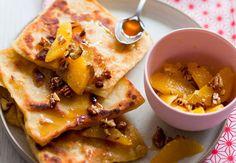 Msemen et salade d'oranges au mielVoir la recette duMsemen et salade d'oranges au miel
