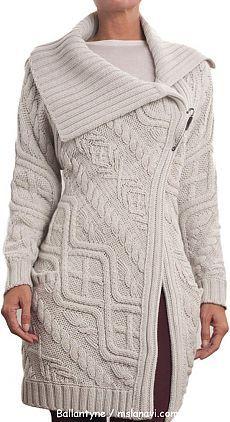 Женское вязаное пальто спицами от Ballantyne   Ms Lana Vi