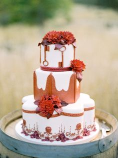 Fall Wedding #Cake -  Jose Villa Photography | See the wedding on SMP: http://www.StyleMePretty.com/california-weddings/napa-valley/2009/10/21/jessica-claires-wedding-by-jose-villa/ @Jessica Claire
