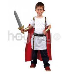 #Disfraz de #romano para #niño que incluye: túnica, capa y cinturón #Disfraces #Carnaval