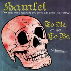 Monarchy, madness, murder and suicide - Hamlet is one of the most famous plays in the world. Check out more playbills from Shakespeare Uncovered. (designer: Kevon Greene)