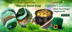 How to make Blarney Stone Soap for St. Patrick's Day.  #soap #homemade #DIY