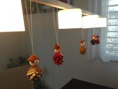 Fall crafts for kids: Pinecone figures
