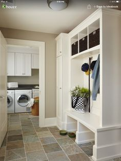 Mudroom off the garage and door to laundry room!