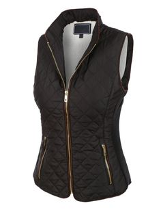 Love this vest for Fall! Womens Lightweight Quilted Puffer Jacket Vest with Pockets Casual Skirt Outfits, Vest Outfits, Western Outfits, Puffer Vest Outfit, Poncho Outfit, Poncho Sweater, Coats For Women, Clothes For Women, Tanks