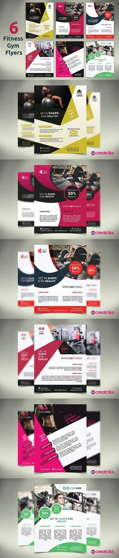 Posters Art Lessons Flyer Templates Flyer Templates - Gym Brochure Templates